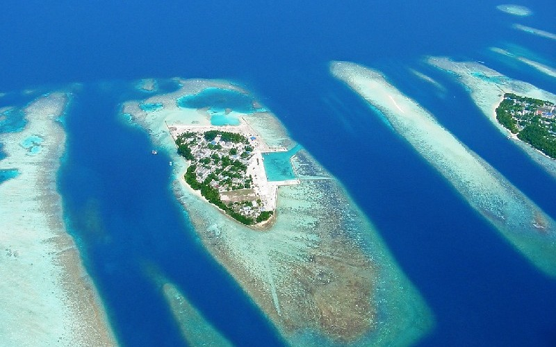 Мальдивы с высоты птичьего полета