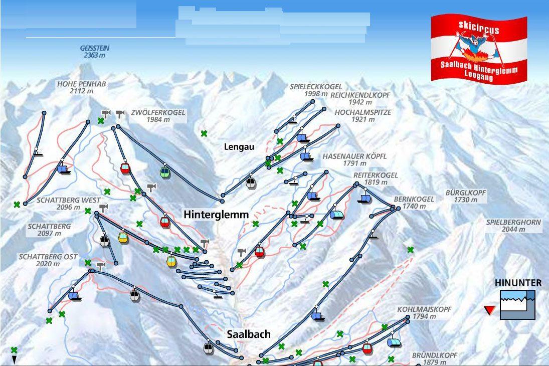 заальбах лыжные маршруты